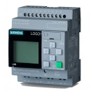6ED1052-1CC08-0BA0 LOGO! 24CE, logic module, Display PS/I/O: 24 V/24 V/24 V trans., 8 DI (4AI)/4DO, memory 400 blocks,